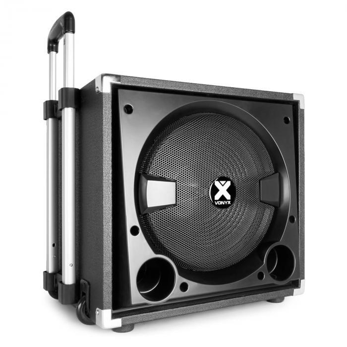 """VX800BT Set Altoparlanti Attivi 2.1 800W 12"""" Sub 2x8"""" Speaker BT USB SD"""