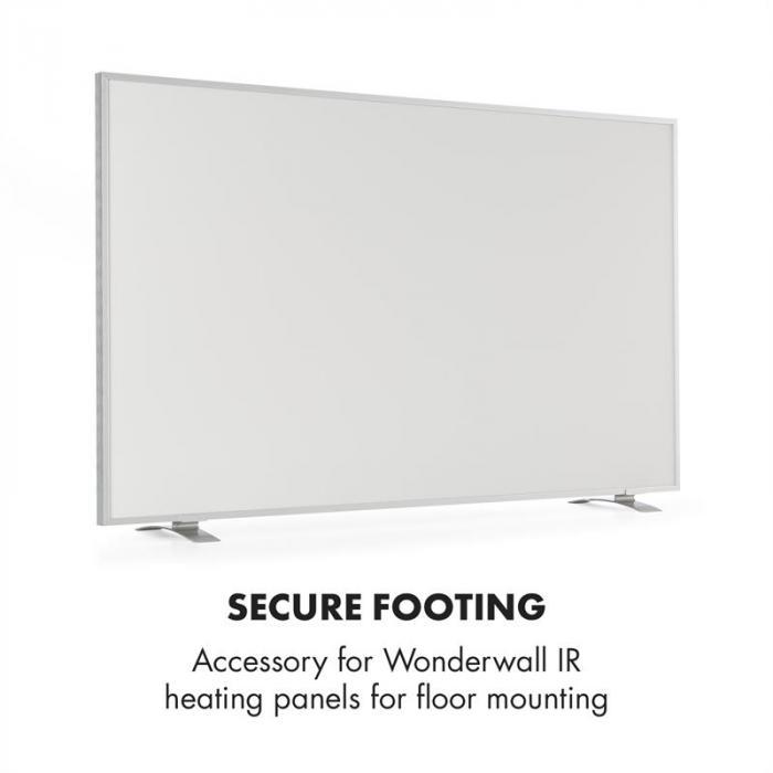 Wonderwall Base Coppia Piedi d'Appoggio per Pannelli Riscaldanti Alluminio