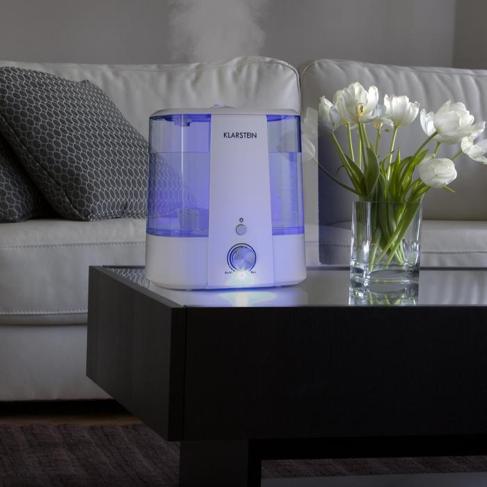 Toledo Umidificatore Ultrasuoni Diffusore Aroma 6l Luce A LED Bianco