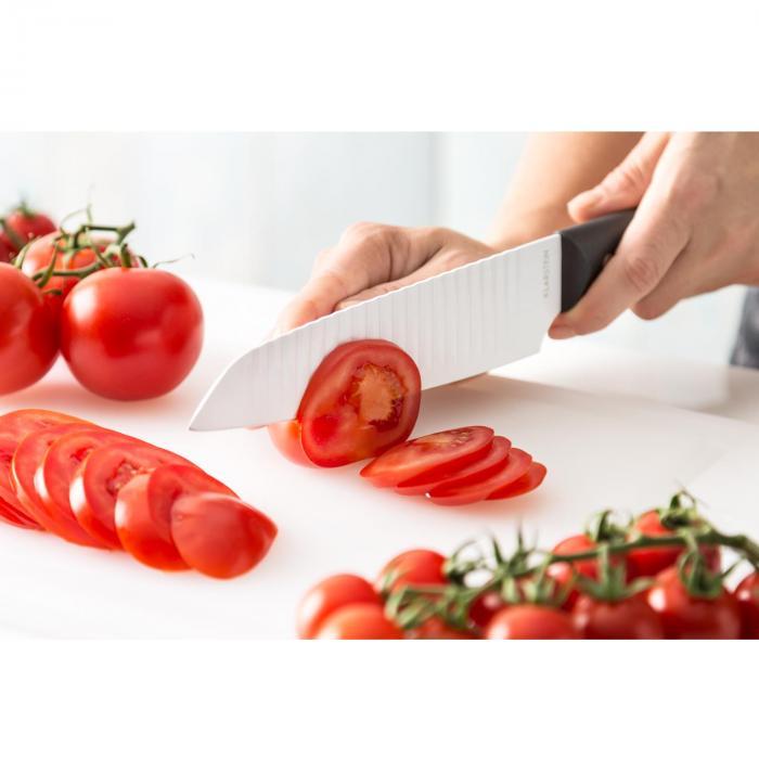 Kashira veitsisetti 7-osainen magneettinen veitsitukki keraaminen pinta ruostumatonta terästä valkoinen