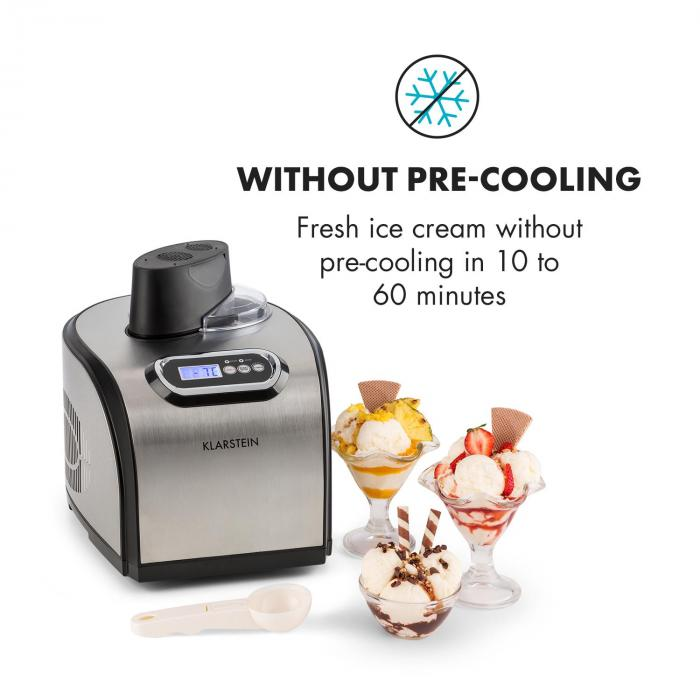 Sweet Dreams Gelatiera Frozen Yogurt Compressore 1,5l Acciaio Inox