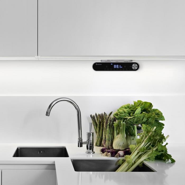 KR-130 Bluetooth keittiöradio kaiutin FM-radio LED-valo hopea