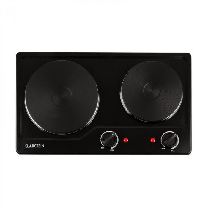 Cookomaniac keittolevy 2500 W 2 levyä kontrollivalot musta