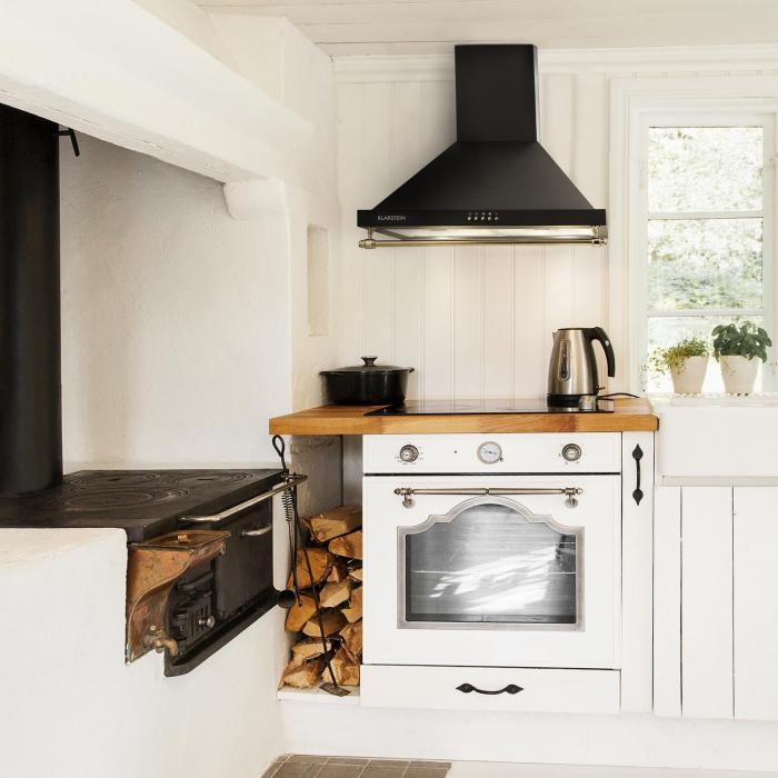 Montblanc Cooker Hood 610m³/h 165W2x1,5W LEDRail Black