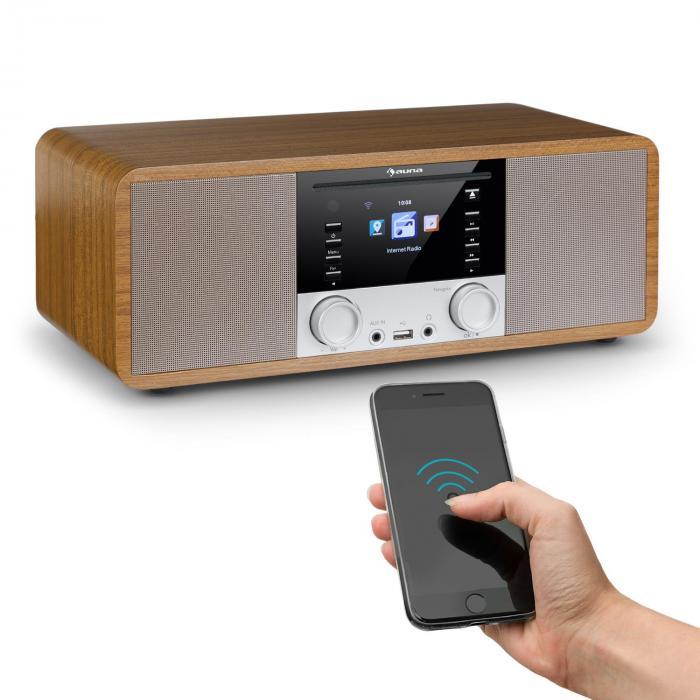 IR-190 Internet Radio Lettore CD WiFi UPnP USB Telecomando Noce