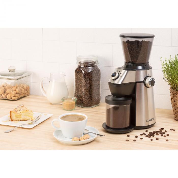 Triest kahvimylly kartioterä 150 W 300 g 15 jauhatusastetta ruostumatonta terästä