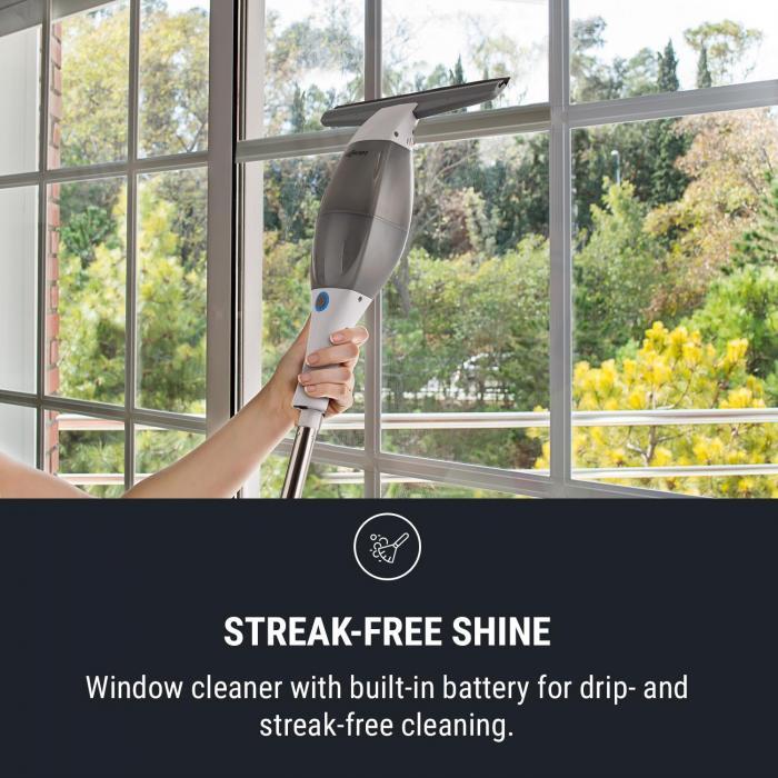 Swoop Fensterreiniger 10W Wischer Tuch Sprühflasche Verlängerung weiß