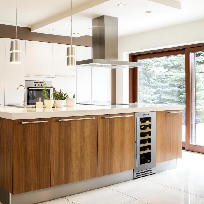 Küche Mit Weinkühlschrank vinovillasmart weinkühlschrank 50l 20 flaschen glastür edelstahl