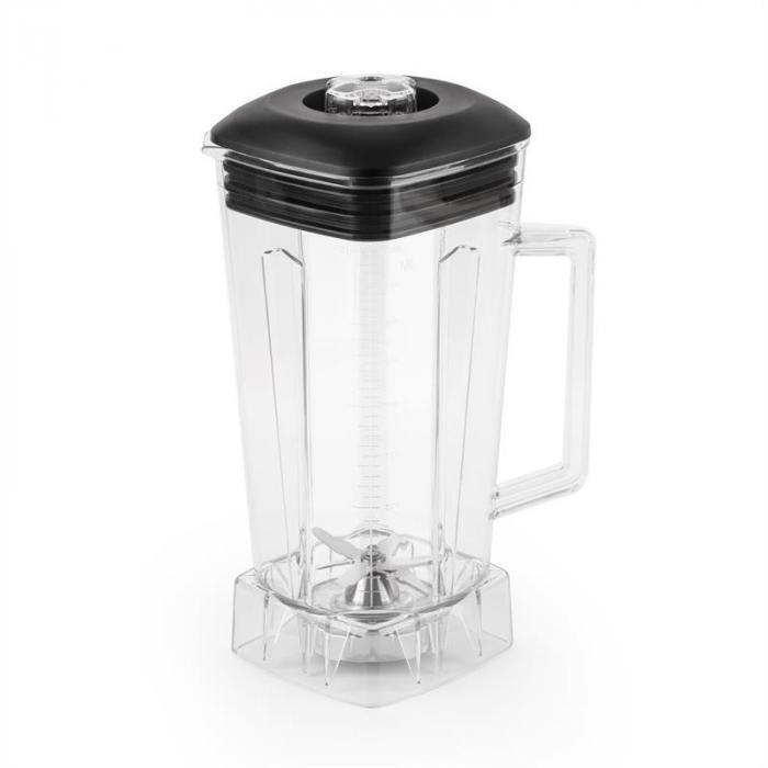 Herakles Jar sekoitusastia muovia läpinäkyvä BPA-vapaa musta