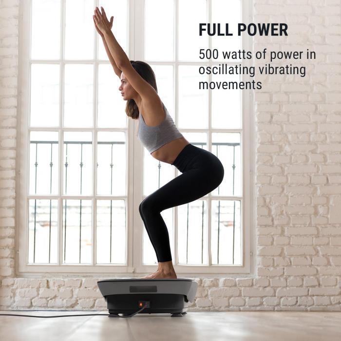 Vib 1000 Vibration Plate 5 Modes Adjustable Duration & Intensity Black