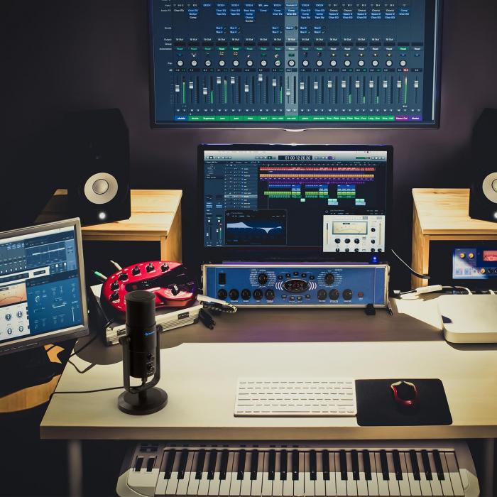 Studio M USB Großmembran-Kondensator-Mikrofon Tischstativ