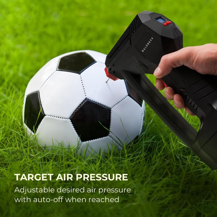 AirBuddy Rechargeable Air Pump 120 W LED Light 1500 mAh Rechargeable Battery Black / Red