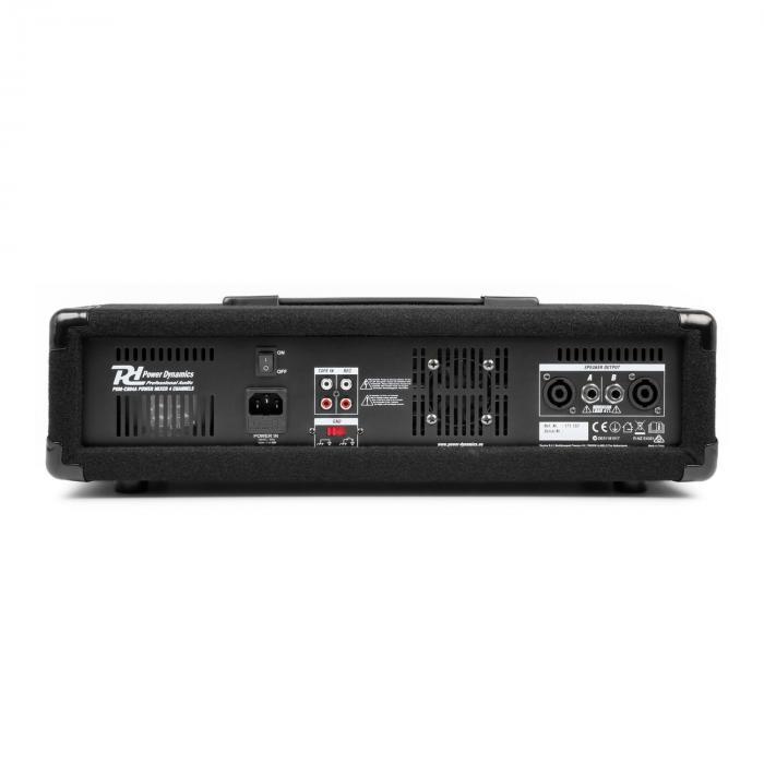 PDM-C405A 4-kanavainen mikseri vahvistimella, USB- ja SD-korttipaikka