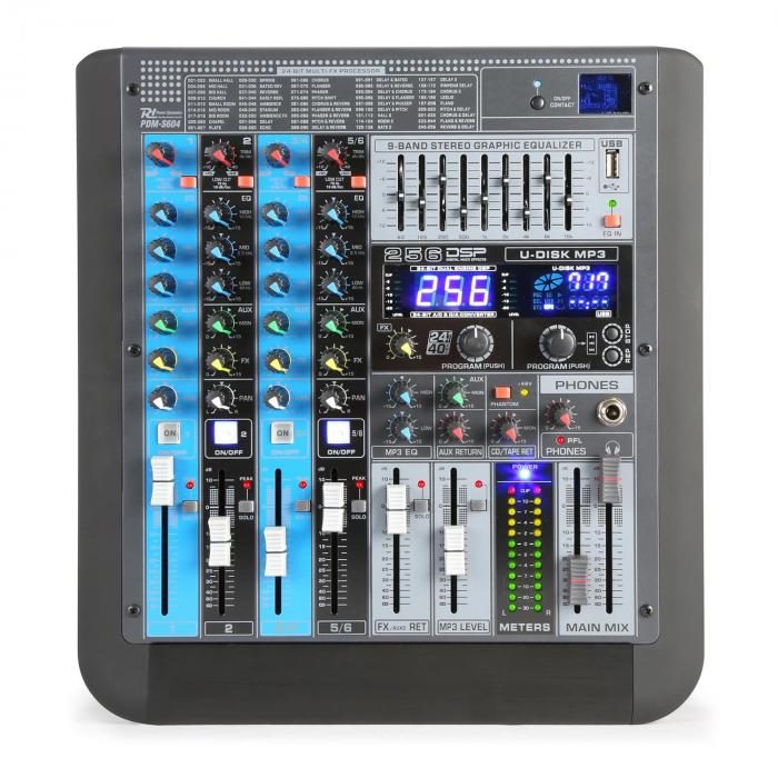 Pdm s604 table de mixage 6 canaux dsp mp3 usb bluetooth electronic star fr - Table de mixage bluetooth ...