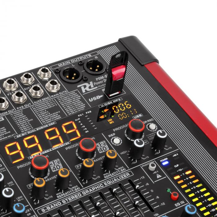 PDA-S804A 8-channel Mixer with an Integrated Amplifier (2x350 RMS)