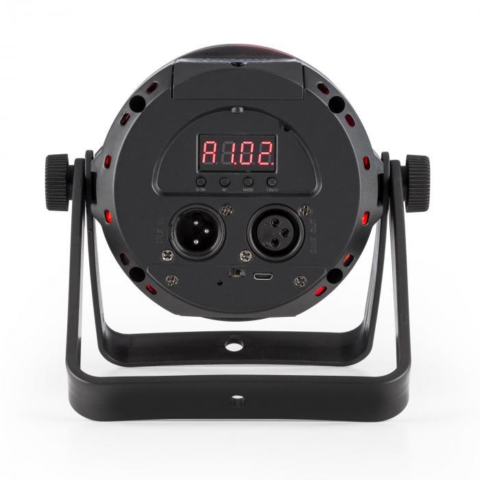 PLS25 Par LED-valonheitin 12x1W RGBW LEDit akku kaukosäädin