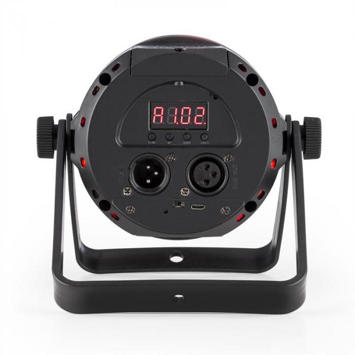 PLS30 spotti 10 W 4 in 1 RGBW 6 DMX-kanavaa akku LED-näyttö kaukosäädin