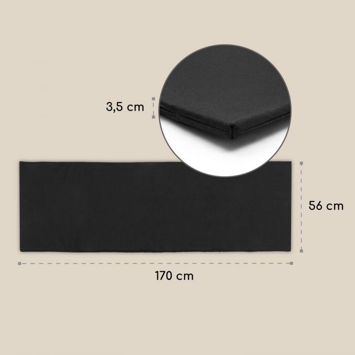 Acalibu ligbedkussen, polyester, schuimstof, zwart, accessoire