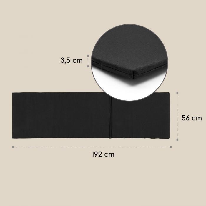 Panamera ligbedkussen, polyester, schuimstof, zwart, accessoire