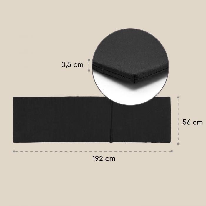 Panamera Liegen-Polsterung, Polyester, Schaumstoff, schwarz, Zubehör