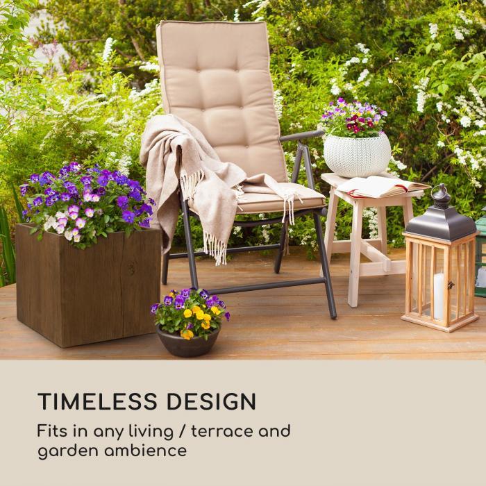 Timberflor bloempot 55 x 50 x 55 cm GVK in-/outdoor bruin