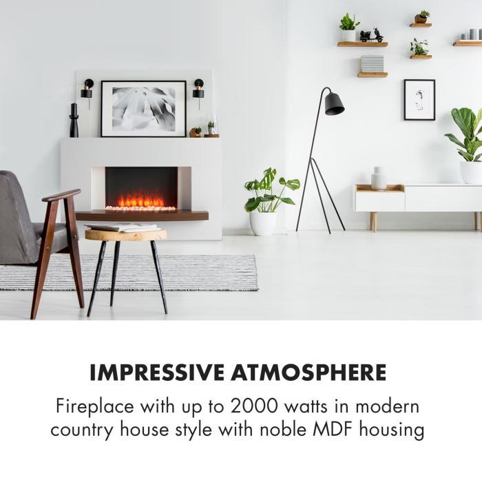 Montreux Electric Fireplace 1000 / 2000W InstaFire Remote Control White