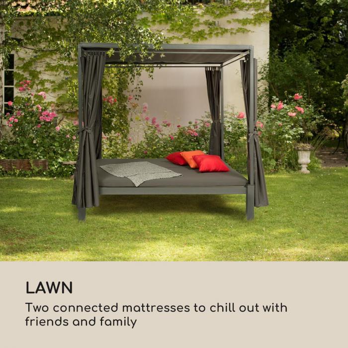 Senator Lounge puutarhatuoli 188x208x205cm aurinkokatos harmaa