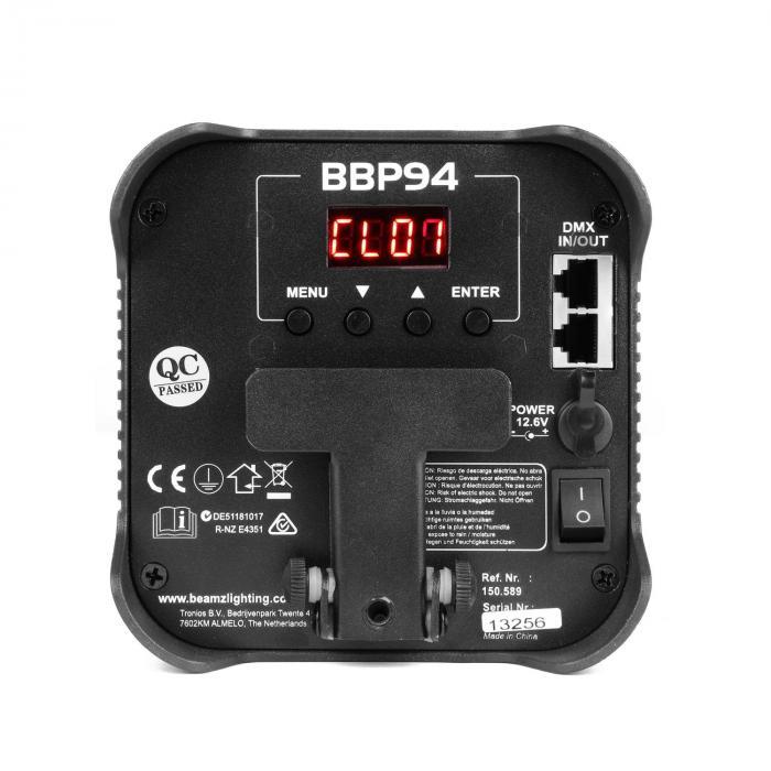 Barre de lumi/ère LED Bain de couleur, noir /Accessoire de facettes Beamz bbp96/uplight Par Barre de lumi/ère LED Bain de couleur noir/