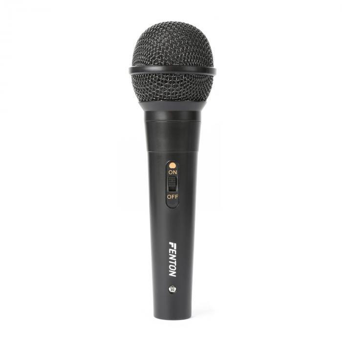 DM100 Microfone Dinâmico Unidirecional Cabo de 3 Metros Preto