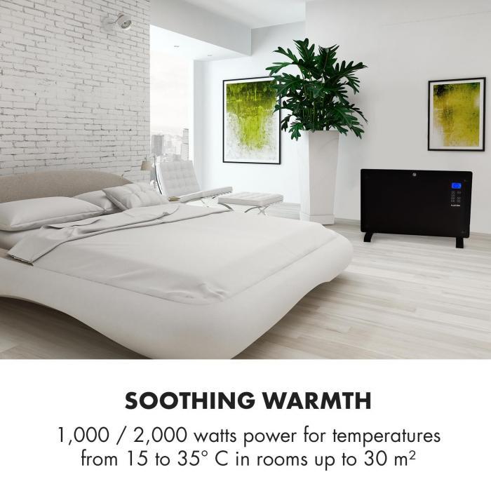 Norderney konvektorilämmitin termostaatti ajastin 2000 W 30 m² musta