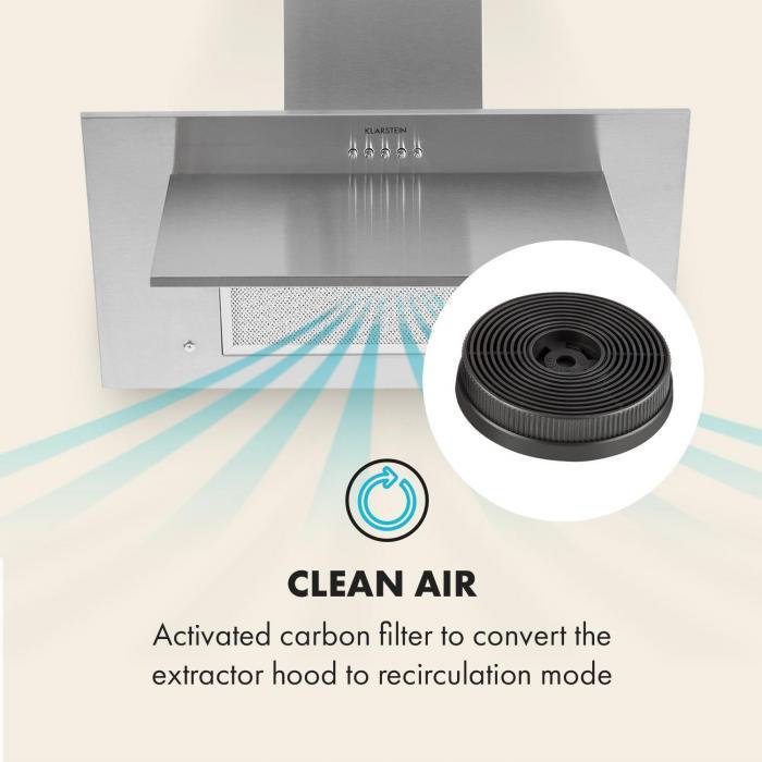 Aktivkohlefilter für Dunstabzugshauben Ersatzteil 2 Filter Umluftbetrieb Ø10,5 cm