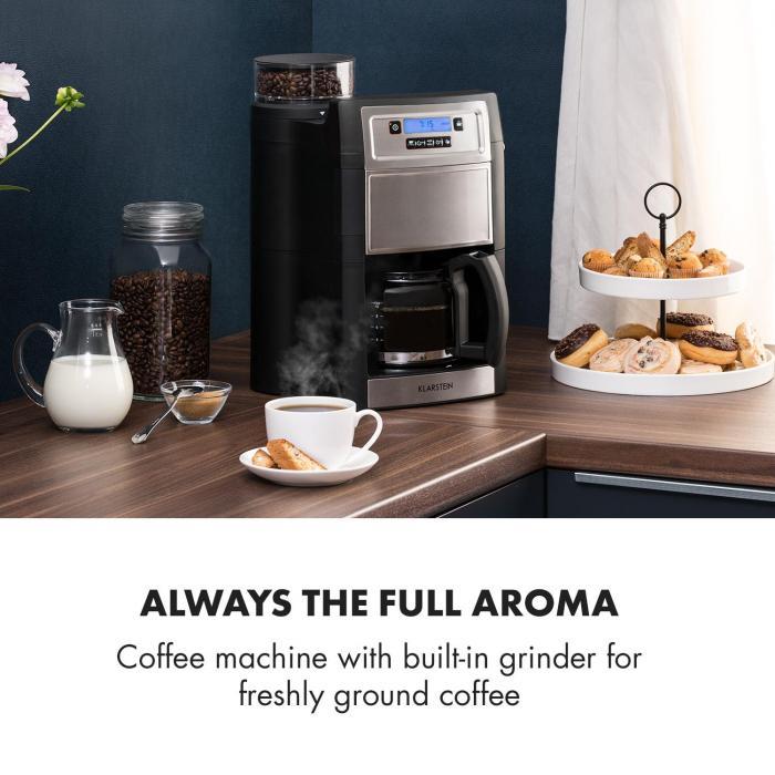 Aromatica II Coffee Machine, Grinder, 1.25 l, Silver