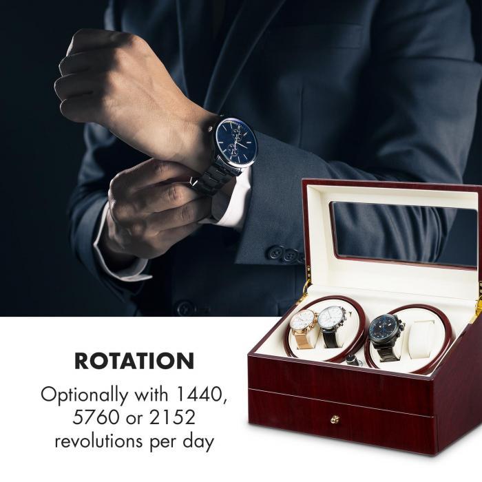 Geneva -kellonliikuttaja 4 kelloa 4 modusta ruusupuuoptiikka