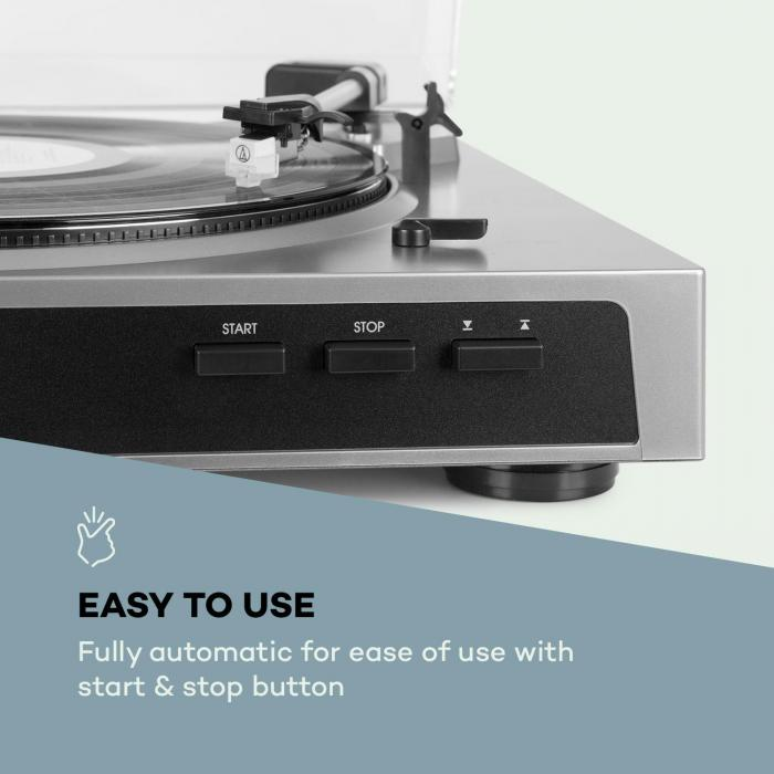 Fullmatic volautomatische platenspeler USB voorversterker zilver