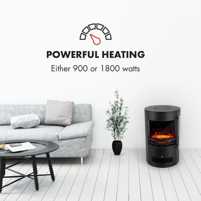 Brixen sähkötakka 900/1800 W InstaFire termostaatti musta
