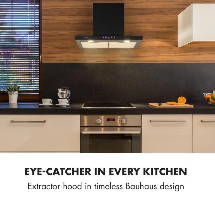 Limelight Cooker Extractor Hood 60cm Wall Hood 600m³ / h Black