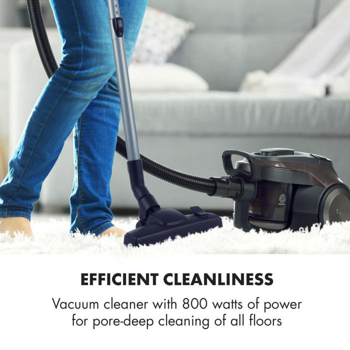 Clean King Ergo Cyclone Vacuum Cleaner Bagless HEPA13 EEC-A Grey / Silver