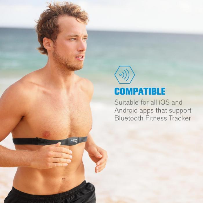 Alatech CS010 Pulsband Bluetooth 4.0 IPX7 Unisize schwarz