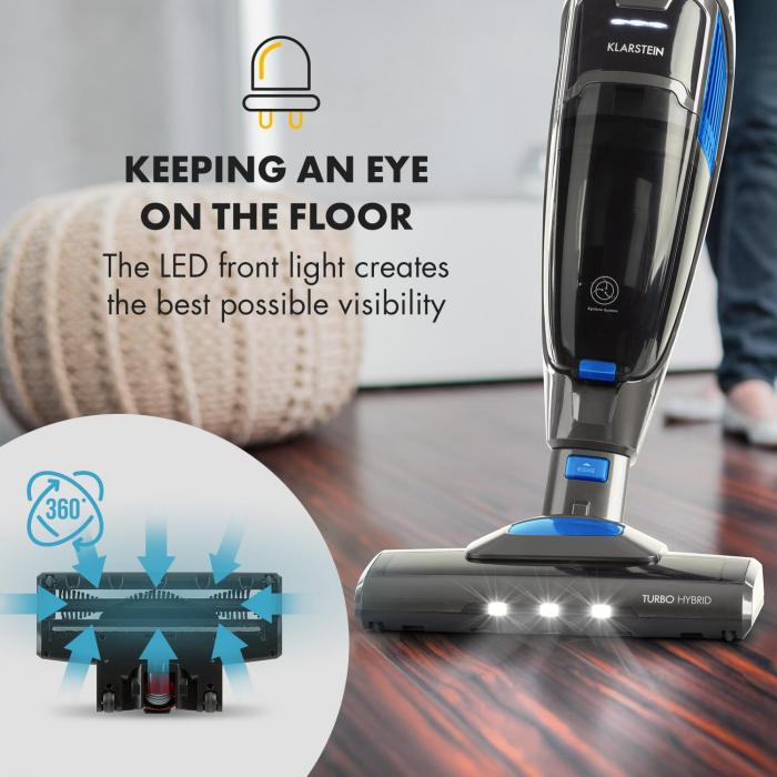 TurboHybrid Vacuum Cleaner Floor and Hand Vacuum Cleaner Anthracite / Blue