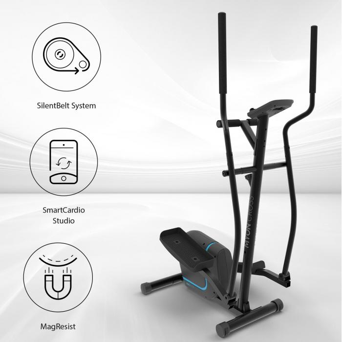Myon Cross Crosstrainer 12kg Schwungmasse SilentBelt System schwarz