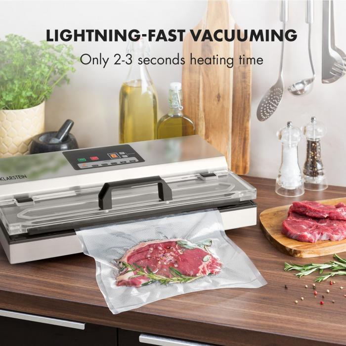 FoodLocker 650 Vakuumierer 650W InstantSealing Edelstahl silber