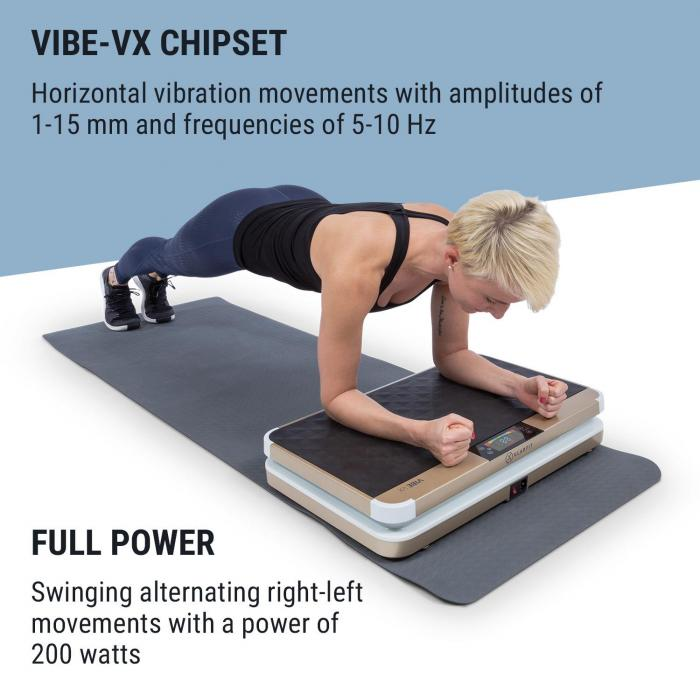 Vibe VX Vibration Plate, 200 Watts, 3 Programmes, AudioConnect, White