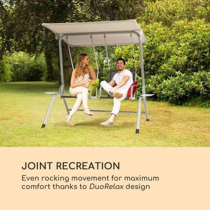 Bel Air Duo Swing hammock antracit/creme