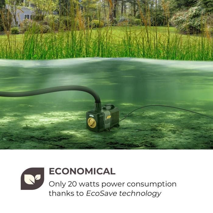 Lagoon 3600 allaspumppu 3600 l/h EcoSave: 20 wattia 2,8 metriä asennuskorkeus