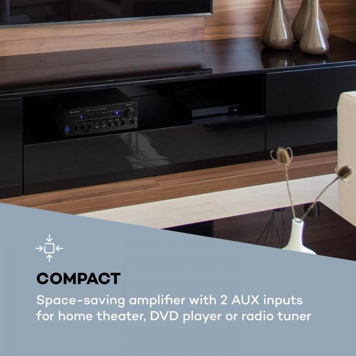 Intelligence Amp Amplificatore 2x40 W max. WiFi BT App-Control Multiroom nero