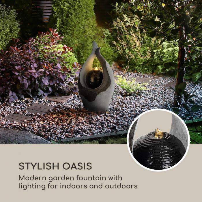 Noblino fontana da giardino 7W illuminazione a LED in poliresina