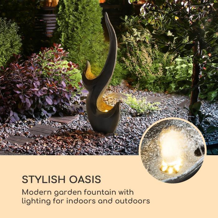 Arcadia fontana da giardino 10W illuminazione a LED in poliresina