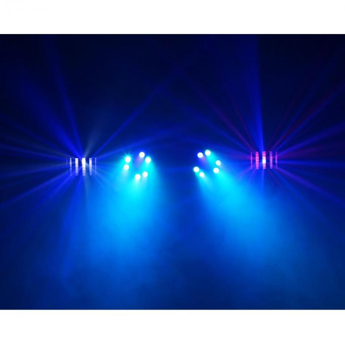 Partybar 2 Système d'éclairage complet 100 W RVBB DMX / Standalone noir