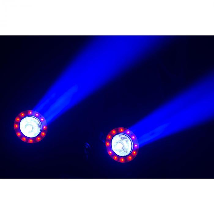 Illusion 1 Moving Head Faretto LED con Anello LED nero