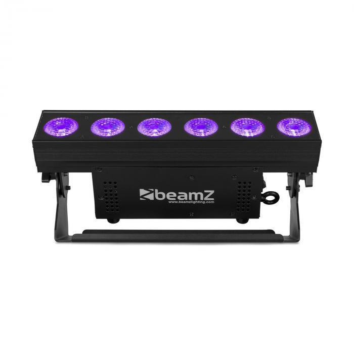 BBB612 Battery Bar 6x12W 6in1 RGBAW-UV LEDs 55W schwarz